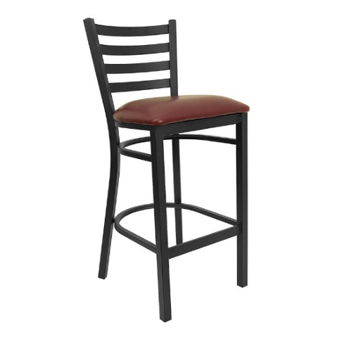Flash Furniture Black Ladder Bar Stool