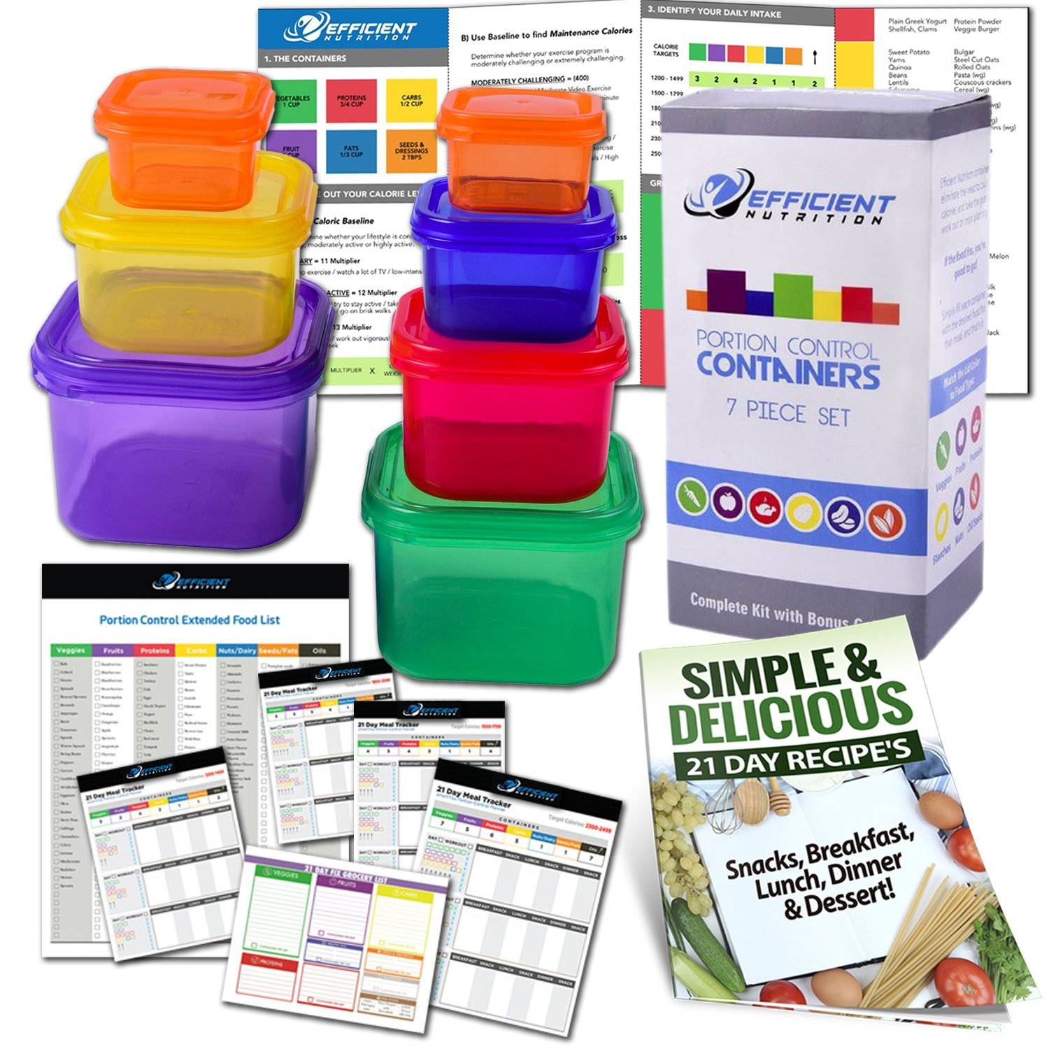 Efficient Nutrition Portion Control Containers