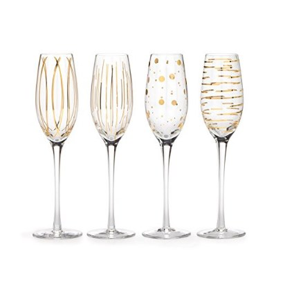 Mikasa Cheers Flutes, Set of 4