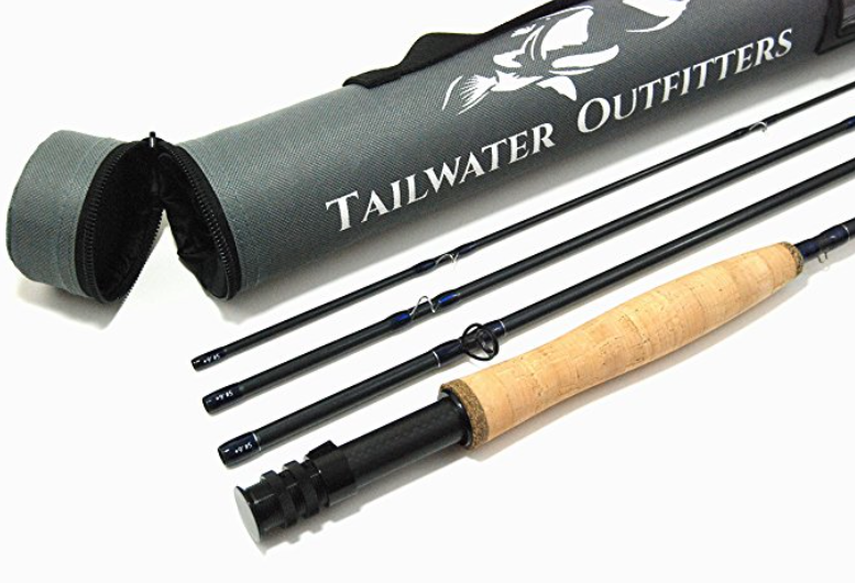 Tailwater Outfitters Portable Fly Fishing Rod: High Performance, Fast Action IM8 Graphite with Rod Tube