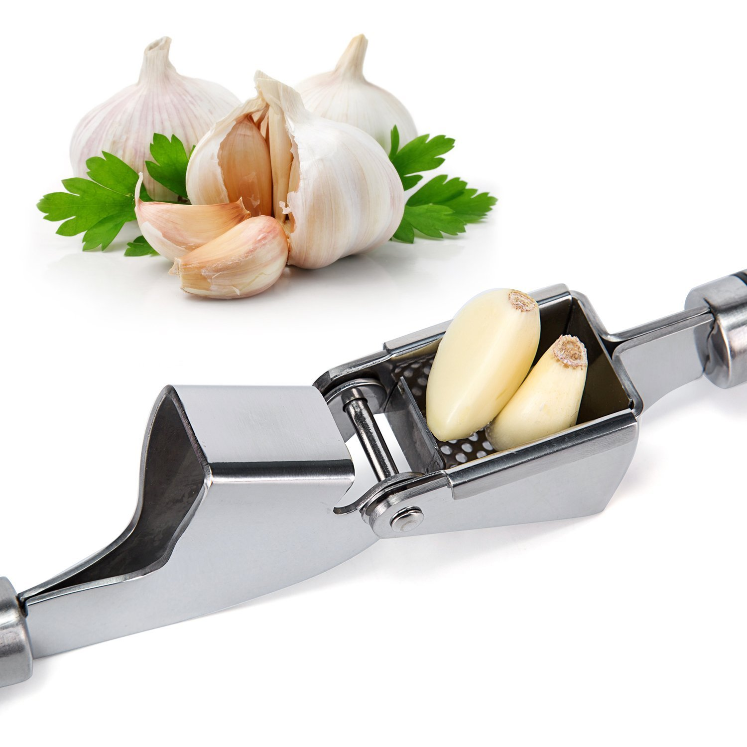 Orblue Propresser Garlic Press and Peeler Set