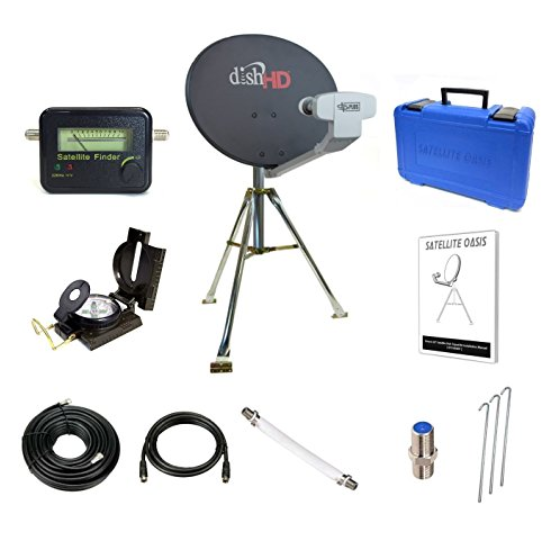 Satellite Oasis Dish Network 1000.2 Turbo HDTV Satellite Tripod Kit – Portable Dish Antenna Product Model Number:: Satellite Oasis Satellite TV Dish DISH10002SKIT