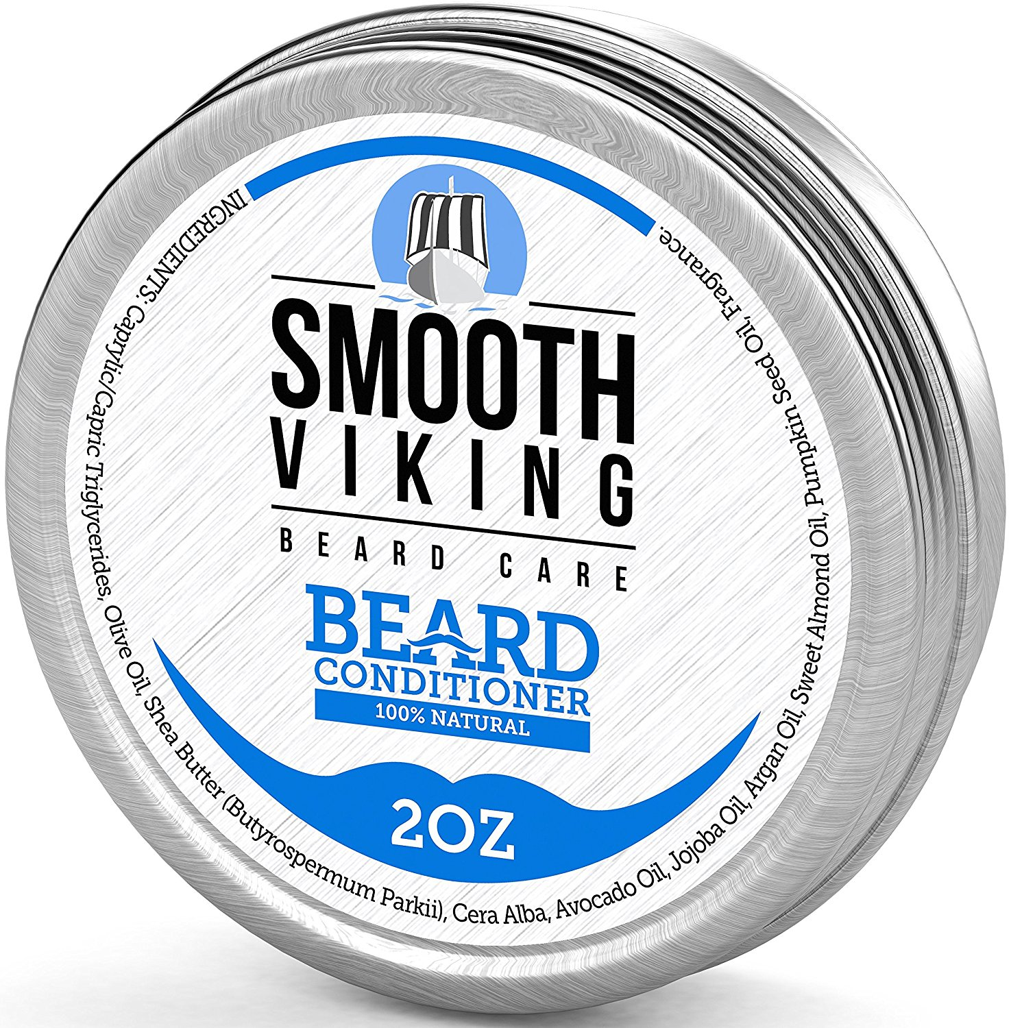 Smooth Viking Beard Conditioner for Men with Argan Oil, Shea Butter and Beeswax - Natural Wax Conditioning Softener that Soothes Itching