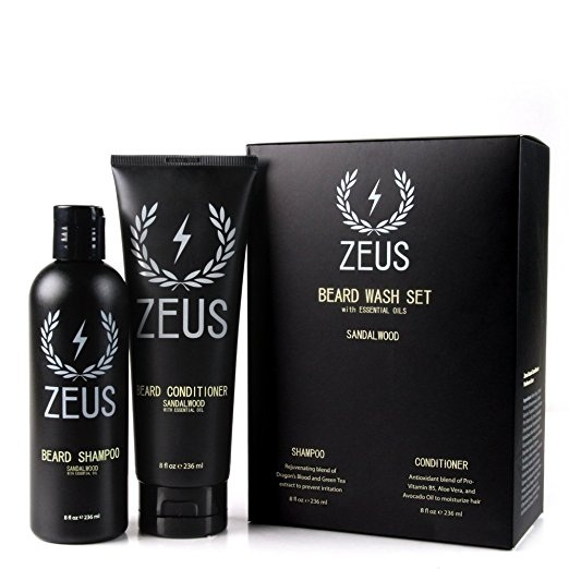 Zeus Scented Beard Conditioner and Beard Shampoo Set