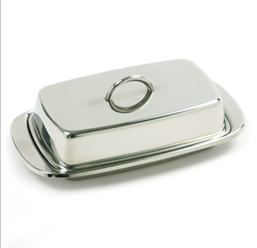 Norpro Double Covered Butter Dish S/S