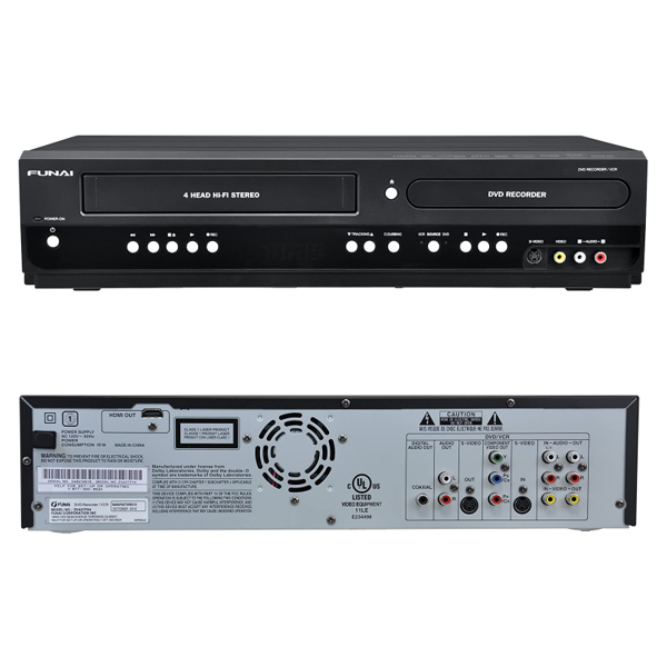 Funai VCR and DVD Recorder Combination - With VHS Converter