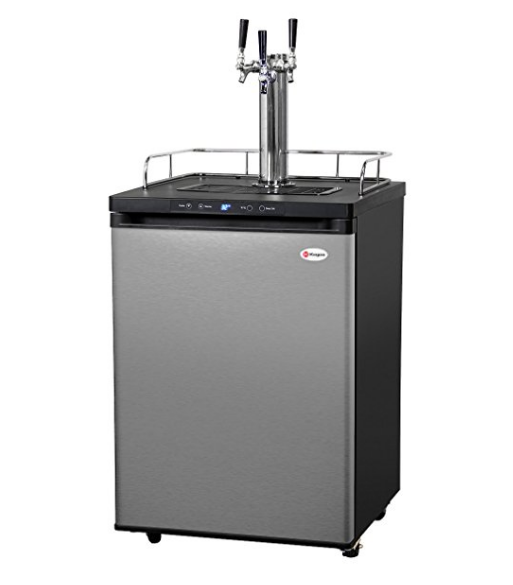 Kegco Digital Home Brew Kegerator in Stainless Steel – Available with up to 3 Faucets & Kegs