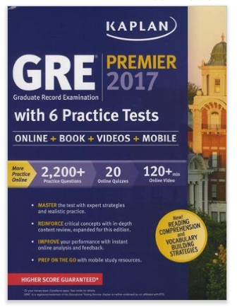 Kaplan Premier GRE Review Books + Digital Resources