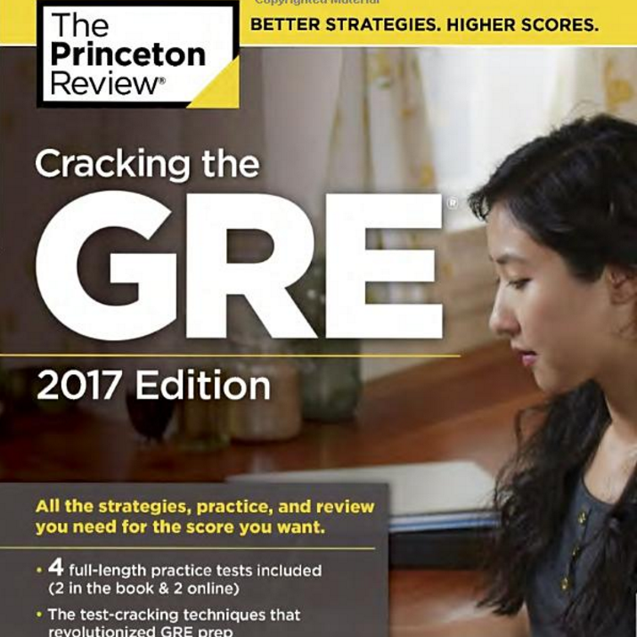 Princeton Review Cracking the GRE with 4 Practice Tests