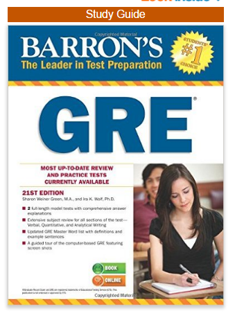 Barron's GRE Test Prep by Weiner Green & Wolf