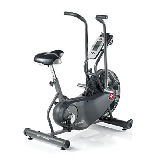 Schwinn AD6 Airdyne Upright Exercise Bike with RevMeter RPM Gauge - Signature Wind-Resistance Technology