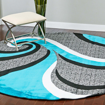 Persian-Rugs Swirl Area Rug