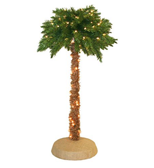 General Foam Plastics Lit Palm Tree