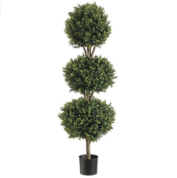 Silk Decor Boxwood Topiary Plant