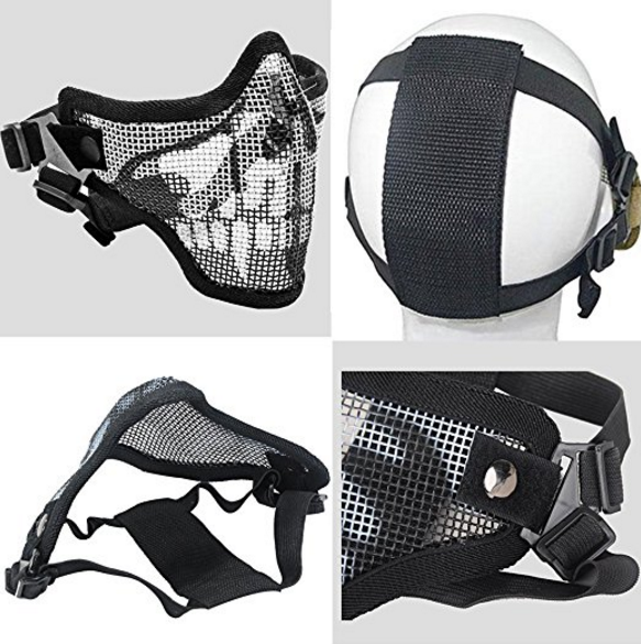 Coofit Mesh Half Face Airsoft Mask