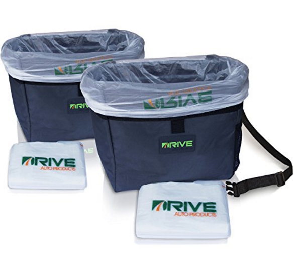Drive Auto Products Car Trash Bag from The Drive Bin As Seen On TV Collection with Black Strap
