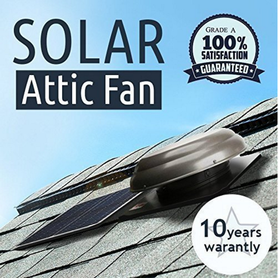 Brightwatts Premium Solar Attic Fan