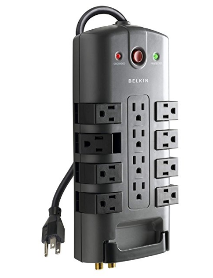 Belkin 12-Outlet Pivot-Plug Power Strip Surge Protector – Available in 3 Sizes & 2 Styles