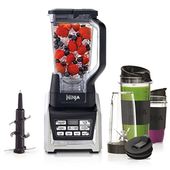 Ninja Nutri Blender Duo with Auto-iQ Technology – Pro Extractor Blades, Includes Three Nutri Ninja Cups