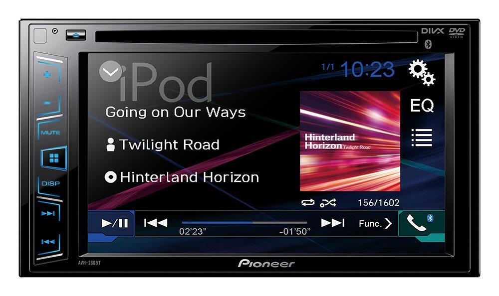 "Pioneer  In-Dash DVD Receiver with 6.2"" Display and Bluetooth, 5-Band Graphic Equalizer"