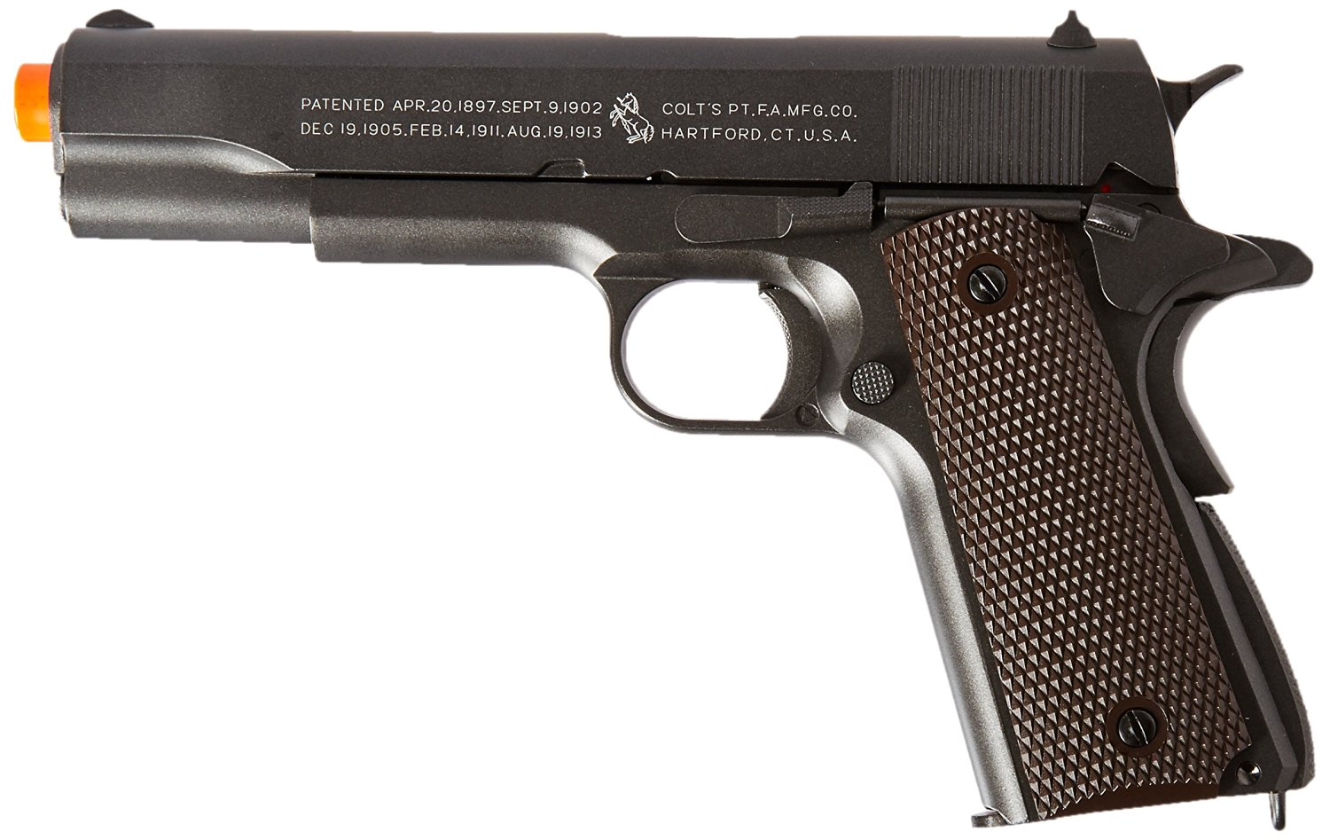 Colt 100Th Anniversary 1911 Co2 Full Metal Airsoft Pistol, 6 mm, Semi-Automatic, Available in 2 Styles