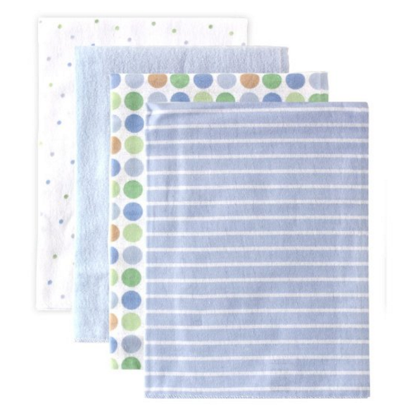 Luvable Friends 4-Pack Baby Blankets
