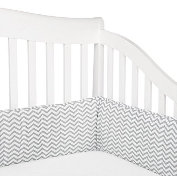 American Baby Company 100% Cotton Exterior Percale Crib Bumper – Available in 12 Colors