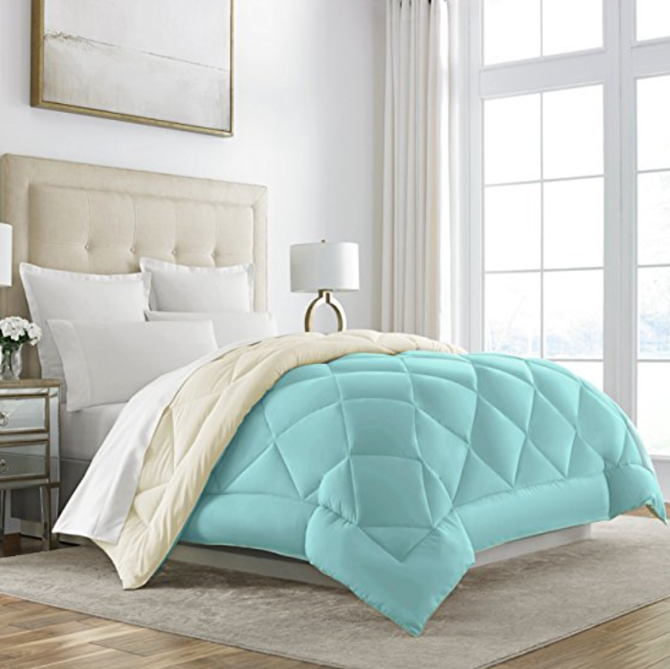 Sleep Restoration Goose Down Alternative Reversible Hypoallergenic Comforter, Multiple Colors & Sizes Available