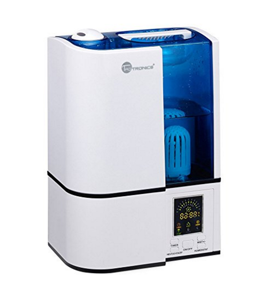TaoTronics Cool Mist Humidifier with LED Display - Ultrasonic Air Humidifiers with No Noise, 4L Large Capacity, Mist Level Control, and Timer Setting