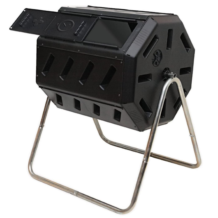 FCMP Outdoor Tumbling Composter -  37 Gallon, Available in Black and Blue