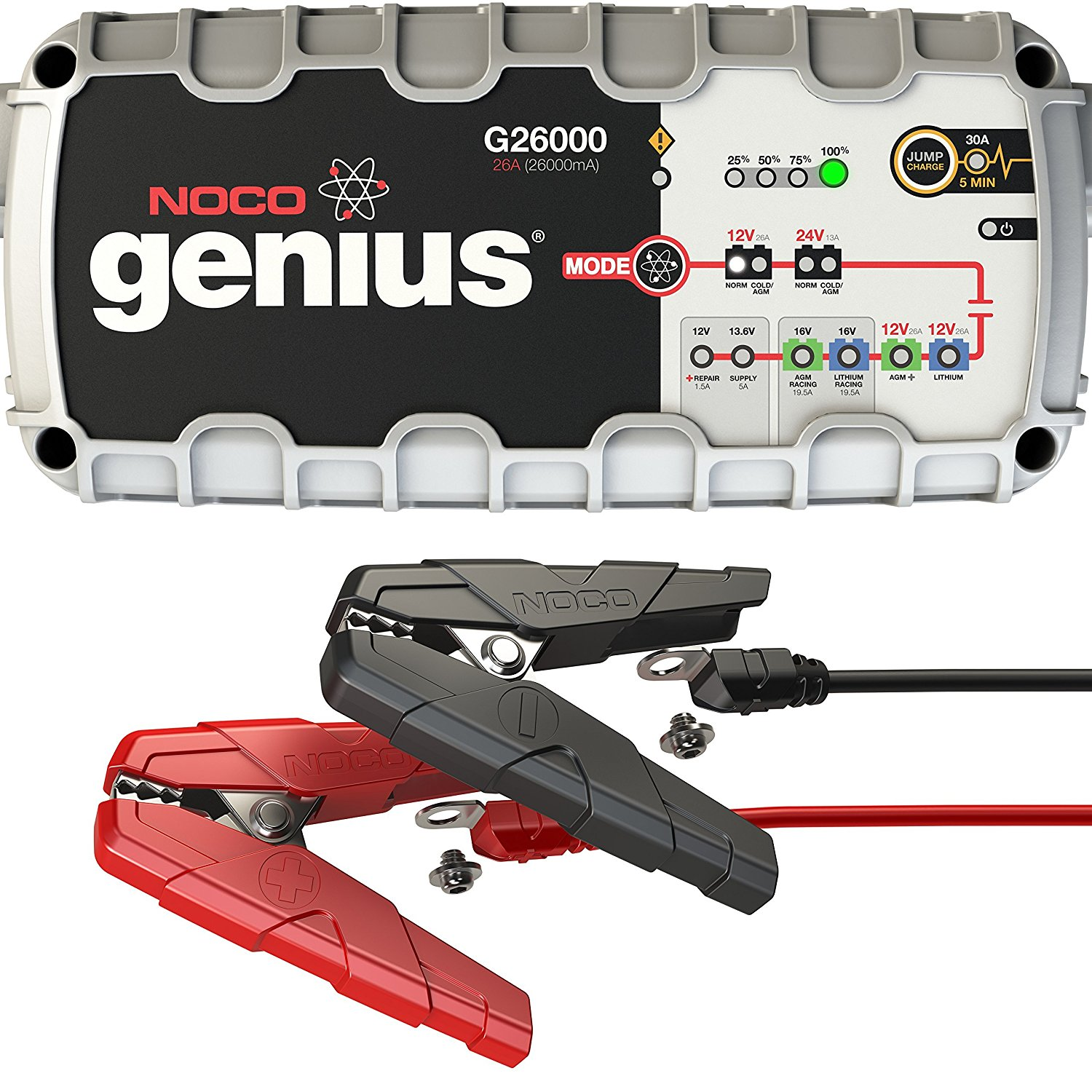 NOCO Genius 12 Volt / 24 Volt Pro Series UltraSafe Smart Battery Charger – Available in 7 Sizes
