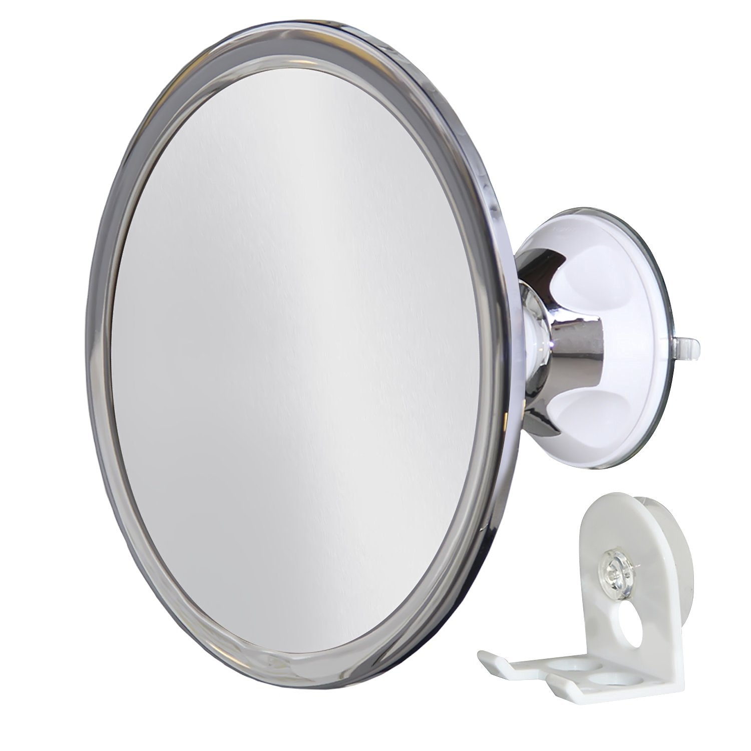 Upper West Connection No Fog Shower Mirror with Rotating, Locking Suction & Adjustable Arm – Available in 3 Magnification Options