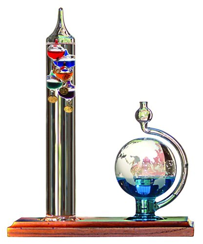 AcuRite Glass Galileo Thermometer with Globe Storm Glass