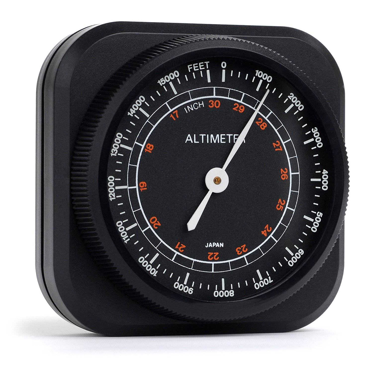 Swift Optical Altimeter/Barometer Weather Instrument – Automobile and Hiking Altimeter with Aneroid Barometer, 0 to 15,000' Range