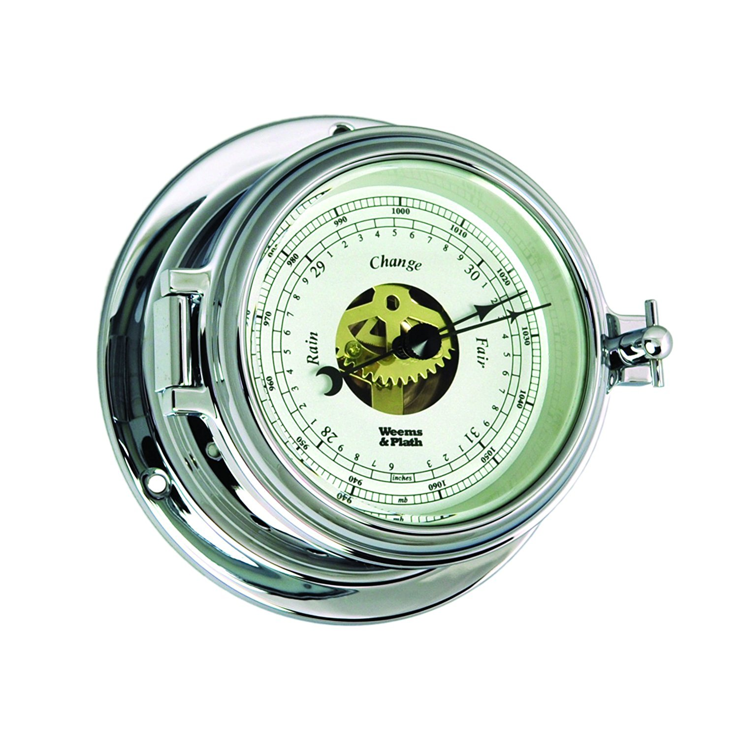 Weems and Plath Endurance II 105 Chrome Open Dial Barometer