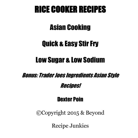 Dexter Poin Rice Cooker Recipes