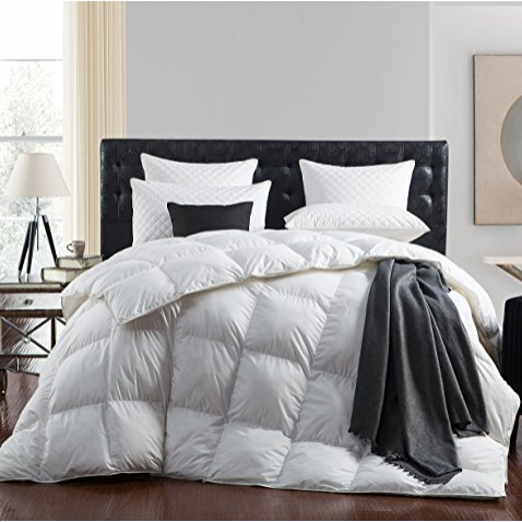 Egyptian Bedding Luxurious 1200 Thread Count Goose Down Comforter – Available in Multiple Sizes