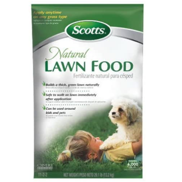 Scotts® Natural Organic 11-2-2 Lawn Food - Organic Fertilizer for All Grass Types