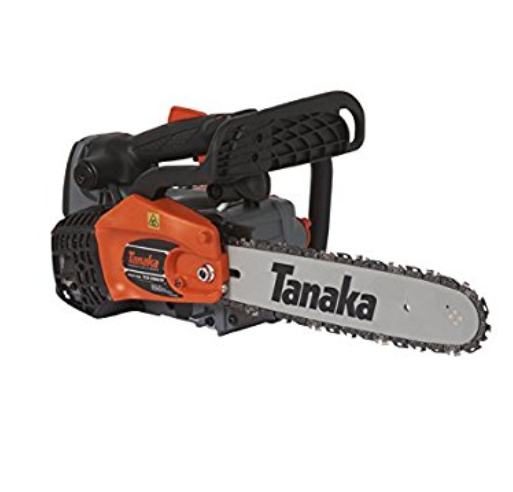 "Tanaka 32.2cc 12"" Gas Chainsaw with Top Handle and Pure Fire Engine"