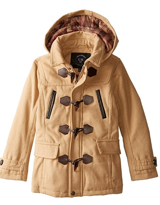 Urban Republic 10% Wool New Big Boys Classic Hooded Toggle Coat – Available in 4 Colors & 2 Sizes