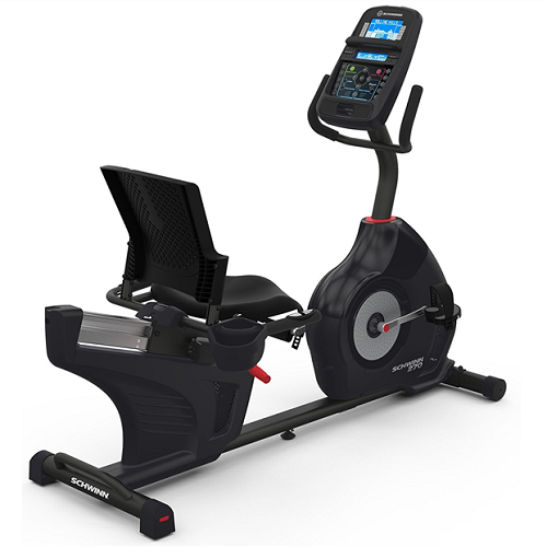 Schwinn 270 Recumbent Exercise Bike with Charging USB Port, 29 Programs and DualTrack™