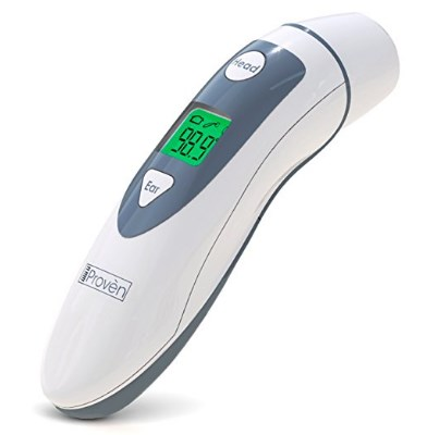 iProvèn Medical Forehead and Ear Thermometer - the Authentic FDA Approved Professional Thermometer – 2016 Model