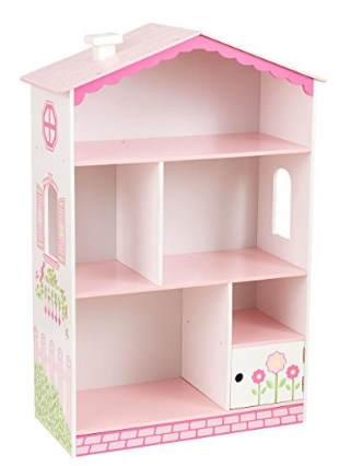 KidKraft Pink Dollhouse Cottage Wooden Bookcase