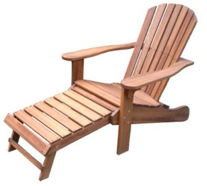 Outdoor Interiors Adirondack Chair & Ottoman