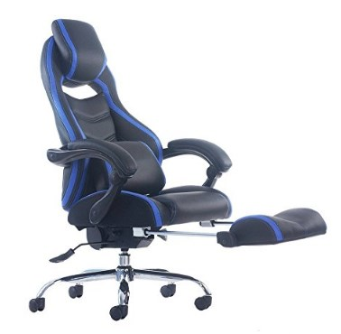 Merax Racing Style Executive PU Leather Swivel Chair with Footrest and Back Support Reclining – Available in 4 Colors