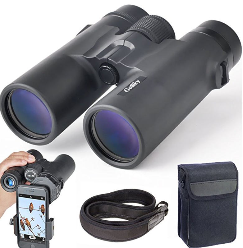 Gosky BAK4 Prism FMC Lens 10x42 Compact Binocular - HD Professional Binoculars for Bird Watching, Travel, Stargazing, Hunting, Concerts & Sports