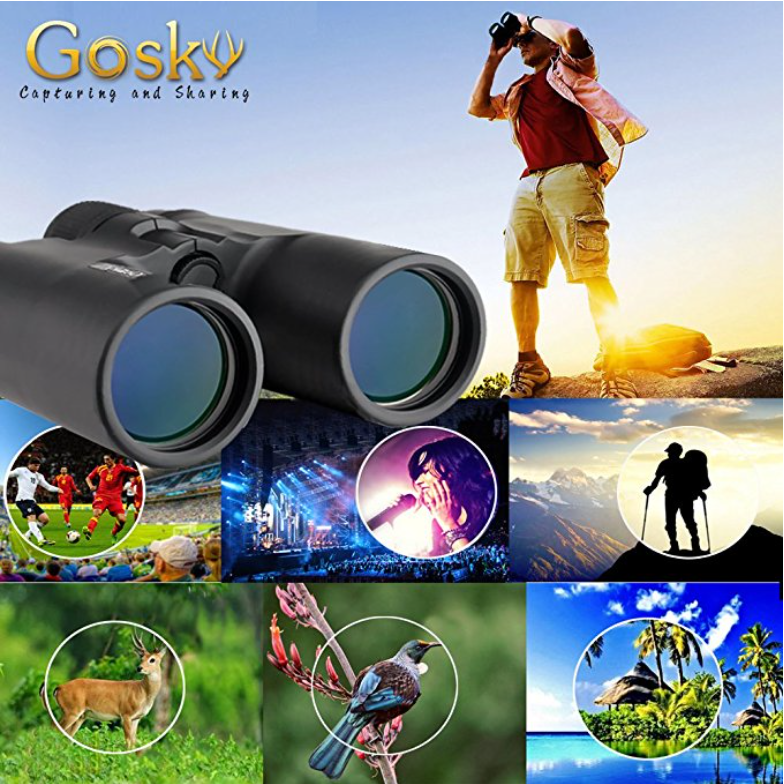 Gosky 10x42 HD Roof Prism Compact Binocular