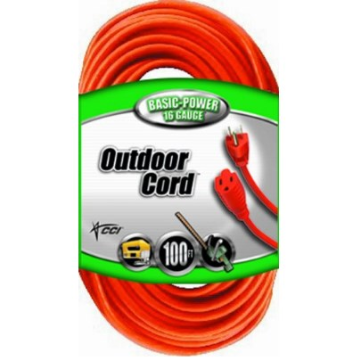 Coleman Cable Vinyl Outdoor 3 Prong Grounded Extension Cord – Available in 3 Lengths and 3 Styles