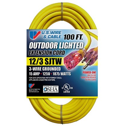 US Wire & Cable Heavy-Duty Extension Cord