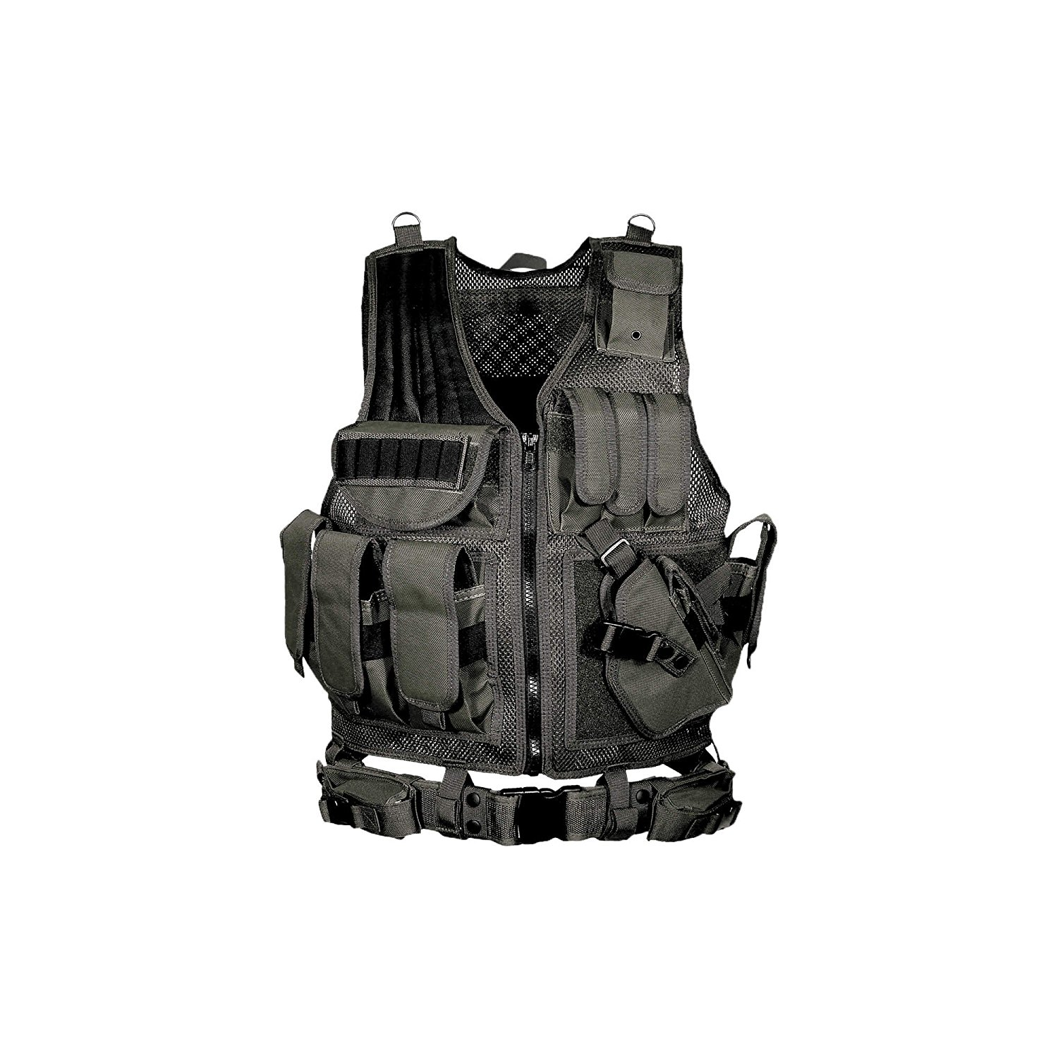UTG 547 Law Enforcement Tactical Vest, 4 Colors Available, 2 Large Internal Zippered Pockets